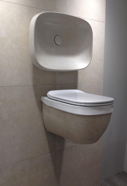 HATRIA ABITO WC és mosdó 58 cm and pietra di noto felület