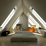 Tetőtér tölgy padlóval